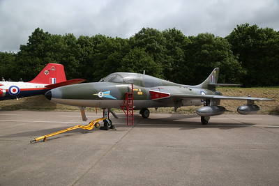 ex-RAF Hawker Hunter T.7, XL565, on the pad ready for a fast taxi run later - 28/05/17.