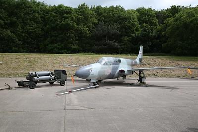 ex-Polish Air Force, PZL TS-11 Iskra trainer, 1018 (G-ISKA), on the pad prior to taxi runs - 28/05/17.