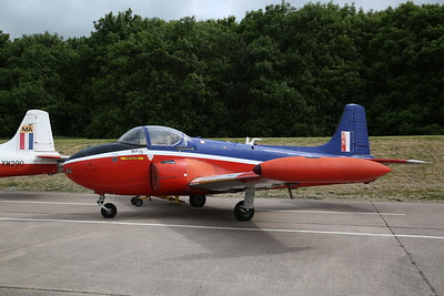 Hunting Jet Provost T.3A, XM365, on the pad prior to taxi runs - 28/05/17.