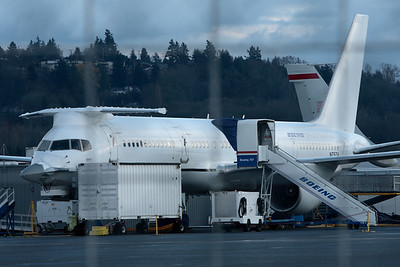 """Boeing 757-200 """"Catfish"""", Prototype N757A, F-22 Raptor Systems Testbed. Seattle, WA."""