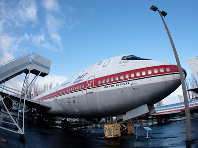 Boeing 747 serial 001 (the first 747 ever made). Museum of Flight in Seattle, WA.