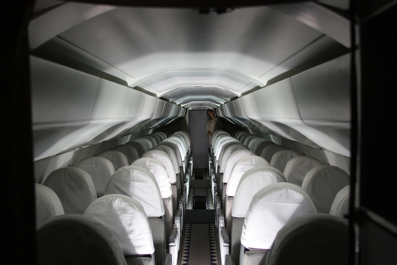 The interior of F-BTSD. Unlike British Airways aircraft, the return to flight French aircraft did not recieve new interiors