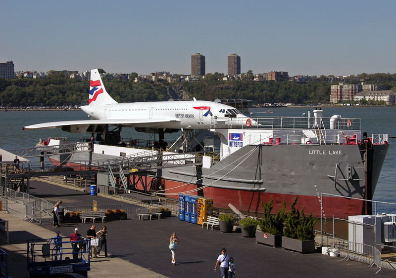 British Airways Concorde G-BOAD, USS Intrepid Sea, Air & Space Museum, New York City, 22 September 2005 1.  Here are seven shots of G-BOAD.  It is now displayed on the jetty at left.