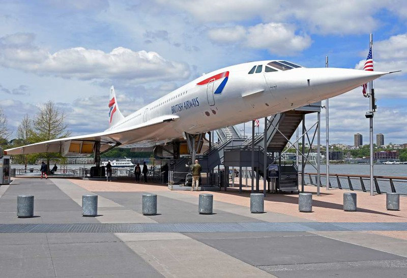 British Airways Concorde G-BOAD, USS Intrepid Sea, Air & Space Museum, New York City, 12 May 2017.