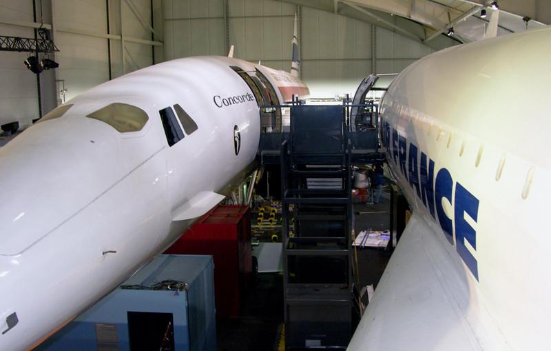 Concorde F-WTSS (left)  & Air France F-BTSD, Musee de l'Air et de l'Espace, Le Bourget, Paris, 10 May 2005 2.