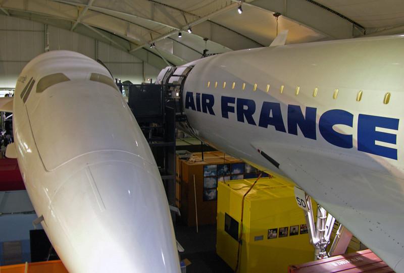 Concorde F-WTSS (left)  & Air France F-BTSD, Musee de l'Air et de l'Espace, Le Bourget, Paris, 10 May 2005 1.  F-WTSS was the French prototype.