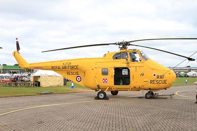 ex-RAF Westland Whirlwind HAR10 XJ729 (G-BVGE) on static display - 14/06/15.