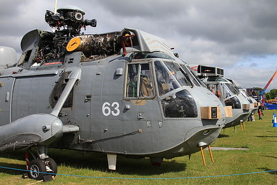 3 ex-Royal Navy Westland Sea Kings - Ground Instructional Airframes - 14/06/15.