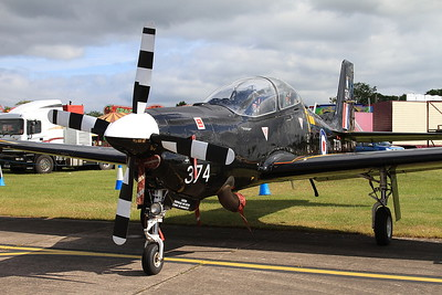RAF Short S-312 Tucano T1 ZF374 on static display - 14/06/15.