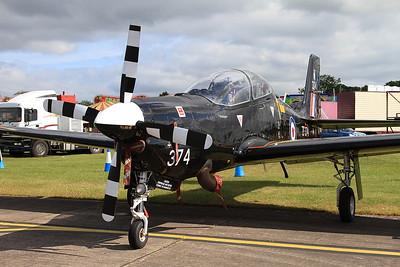 RAF Short S-312 Tucano T1 ZF374 on static display - 14/06/15.