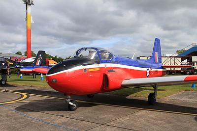 Hunting Jet Provost T3 XN637 (G-BKOU) on static display - 14/06/15.