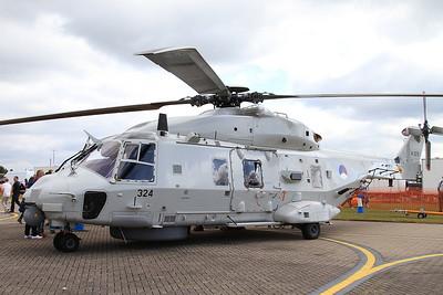 Royal Netherlands Navy NHIndustries NH90 N324 on static display - 14/06/15.