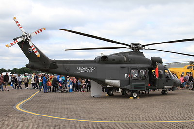 Italian Air Force AgustaWestland HH139A MM81824/15-52 on static display - 14/06/15.