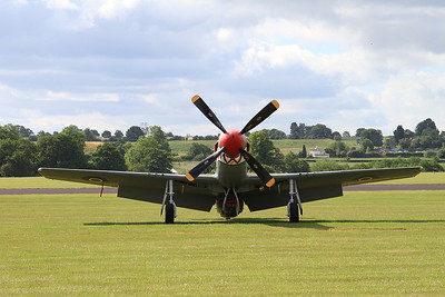 North American P-51D Mustang KH774 (G-SHWN) waits for action - 14/06/15.