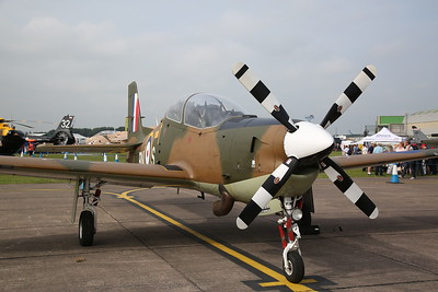 RAF Short Tucano T.1, ZF378, on static display - 10/06/18