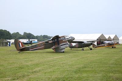 De Havilland DH-89A Dragon Rapide, G-AGJG & ex-USAAF & RAF Fairchild Argus III, KK527 / G-RGUS & ex-RAF De Havilland DH-87B Hornet Moth, YG-L / W9385 / G-ADND - 09/06/19