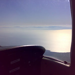 Just levelling off at 5500ft out of Ronaldsway with a nice view of the Lake District