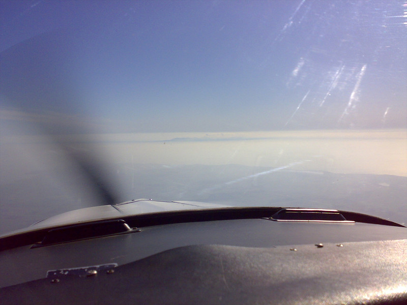 Final Leg over Wigton with the Island visible in the distance