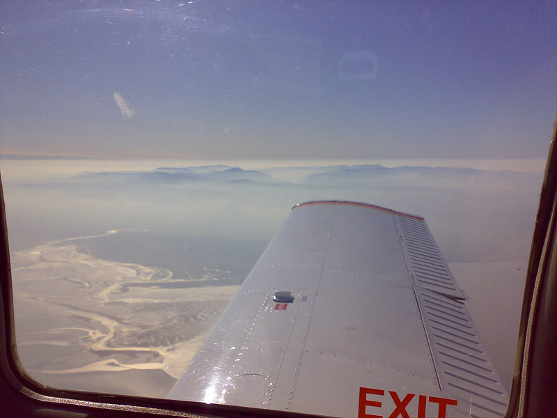 Along the Solway firth, the Lake District very hazy to the south.