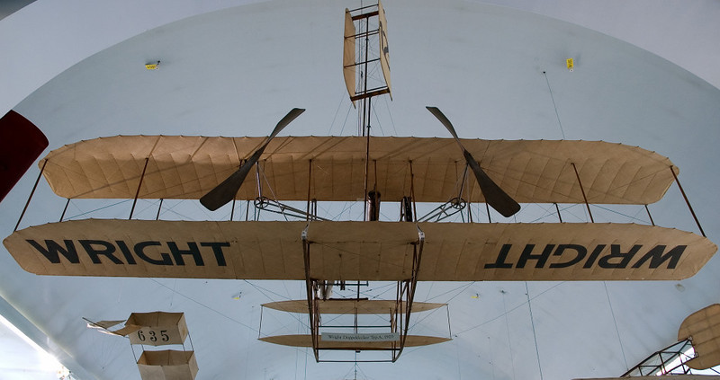Wright Flyer, Deutsches Museum, Munich, 16 June 2006 1.  View from the rear.