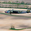 """Briefing Time"" B-25 Mitchell in formation flight from the Air Force Museum honoring the Doolittle Raiders 2010."