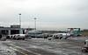 CityJet British Aerospace 146-200s, Dublin airport, 12 January 2009.   Unidentified at left, Avro RJ 85 EI-RJS at right.