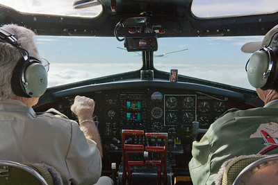 """Photo taken October 16, 2008.  """"On top"""" over the mountains in a B-17...  Cool!"""