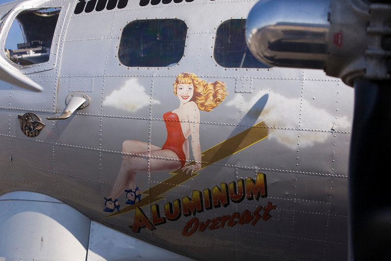 Photo taken October 15, 2008.  B-17 'Aluminum Overcast' at Knoxville, TN.