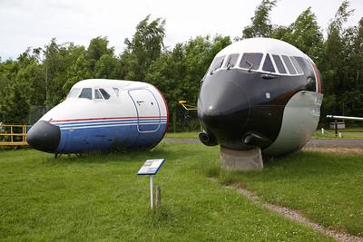 Front fuselage sections of Vickers Viscount 804, G-CSZB & Vickers Vanguard V.953C Merchantman, G-APES - 03/06/17.
