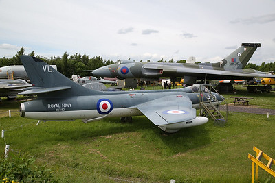 ex-RN Hawker Hunter GA.11, WV382 / 830 & ex-RAF Avro Vulcan B.2A, XM575 - 03/06/17.