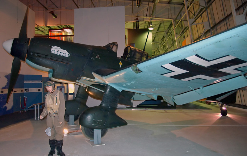 1944 - Junkers Ju 87G-2 'Stuka' dive bomber 494083, Hendon, 18 September 2007 1    NB the assault gun trophy on the nose.