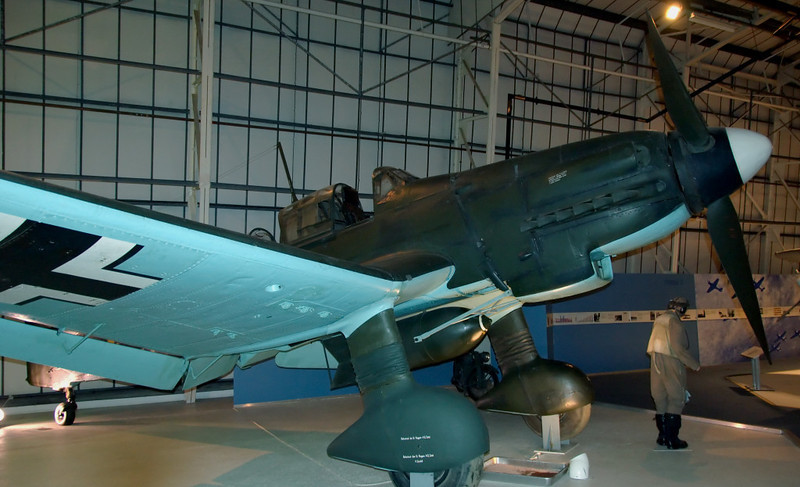1944 - Junkers Ju 87G-2 'Stuka' dive bomber 494083, Hendon, 18 September 2007 1    This is the only intact Stuka surviving in Europe.  It was captured in 1945.