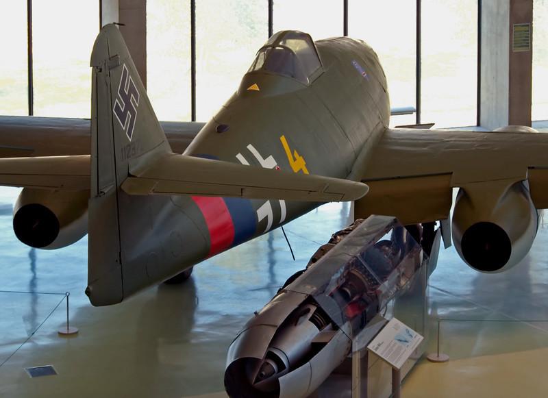 1945 - Messerschmitt Me 262-2A Schwalbe (Swallow) jet fighter 112372, Hendon, 18 September 2007 1