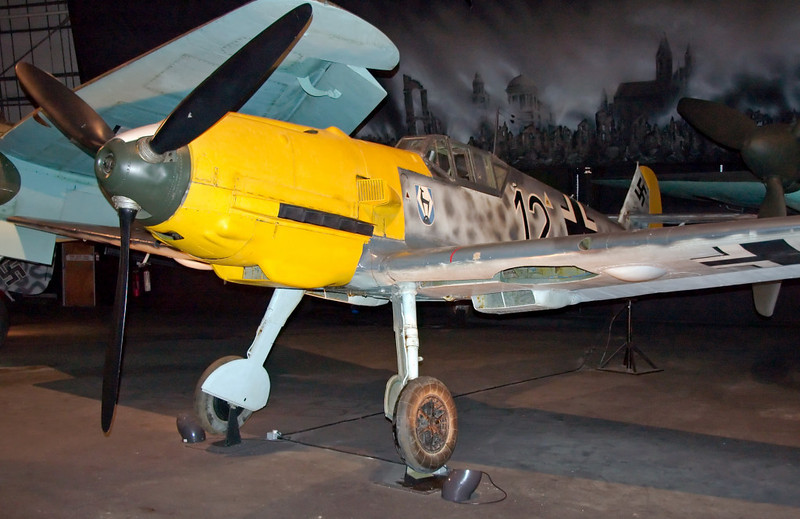 1940 - Messerschmitt Bf 109E-3 4101, Hendon, 18 September 2007 1   This aircraft was built in Leipzig in September 1940, and shot down two months later over Kent by a Spitfire.