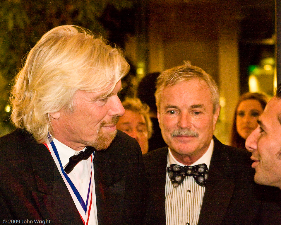 L TO R: Sir Richard Branson, Jerry Lips, unknown
