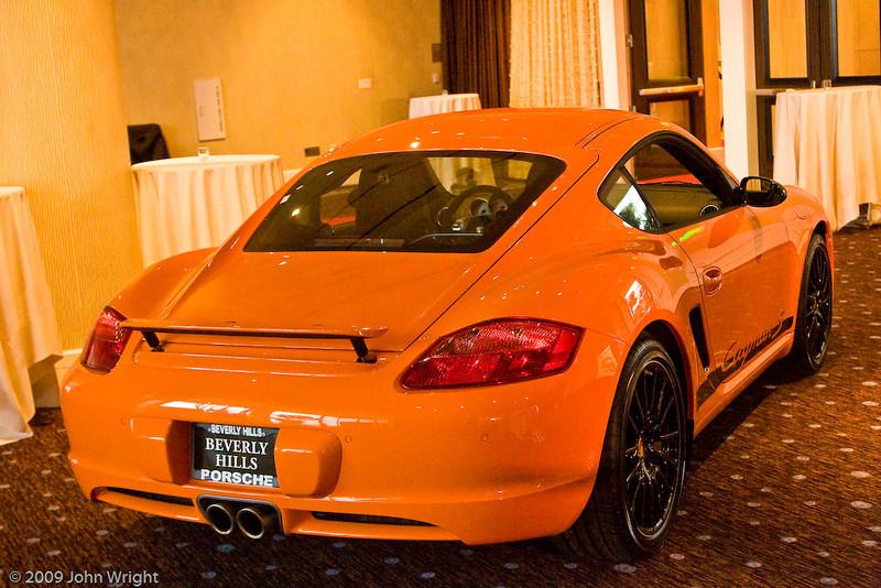 Porsche Cayman S displayed by Beverly Hills Porsche