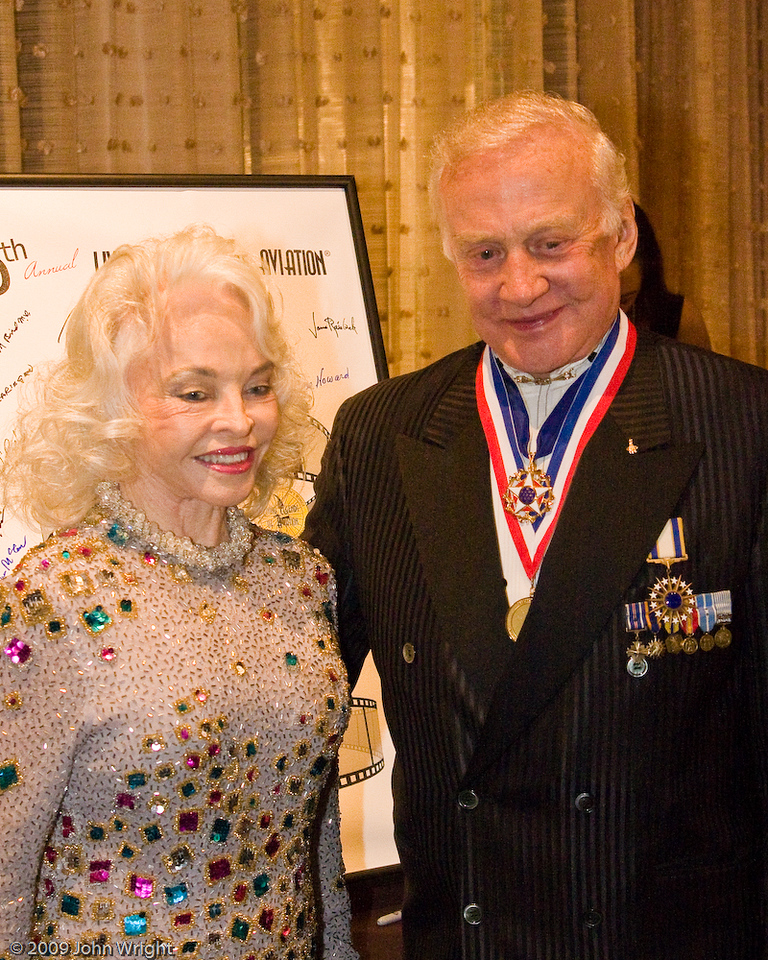 Left to right: Lois and Buzz Aldrin