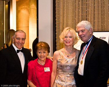 Left to right: Si Robin, Betty Robin, unknown and James Raisbeck