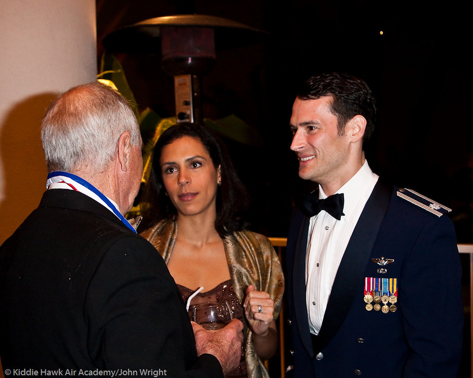 Maj. Gen. Bill Anders, Lt. Col. Paul and Amanda Moga