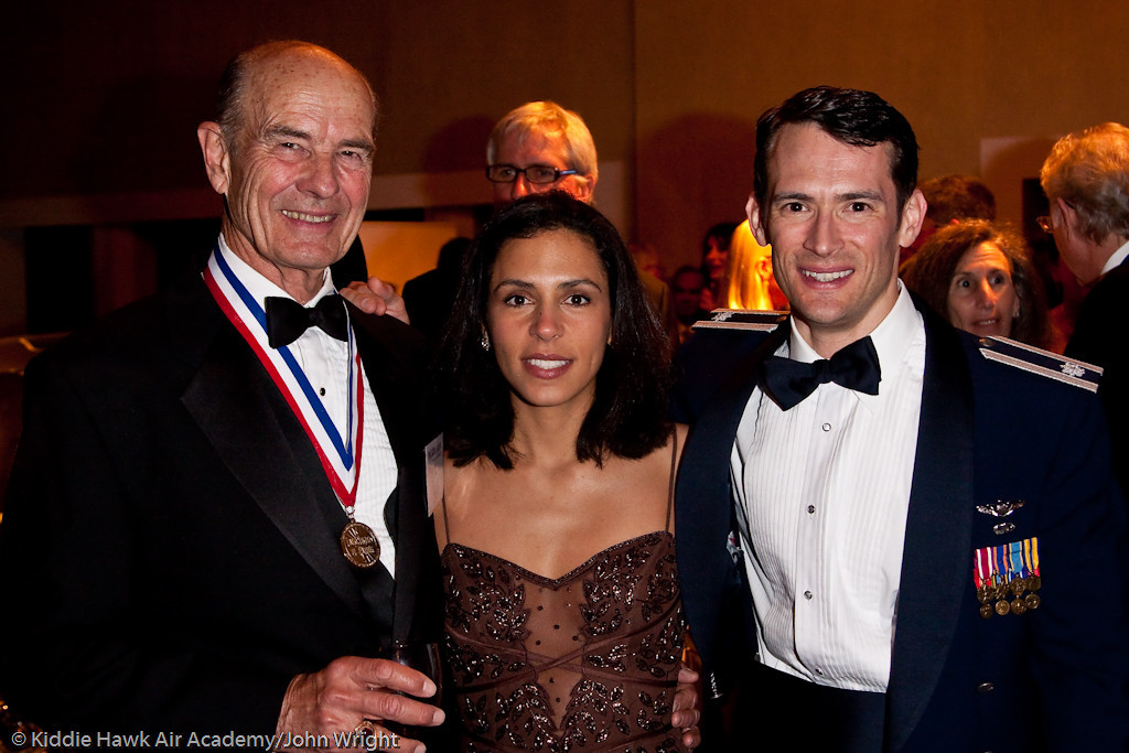 Charles Hall and Lt. Col and Mrs Paul Moga