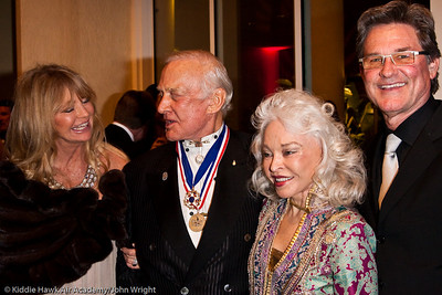 Goldie Hawn, Buzz Aldrin, Lois Aldrin and Kurt Russell