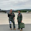 FB MooseCon 8 27 - 5 28 21 - photo 11 - Col William Sling Bladen, 104th Fighter Wing Commander, and Natalie head out to the flight line