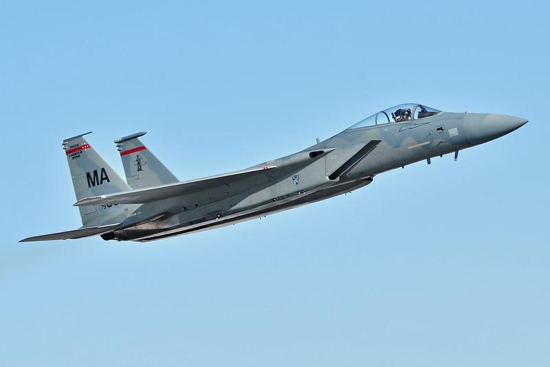"Major Glenn ""Chugs"" Milliken taking 79-0064 up for a re-heat, test flight"