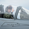 Lt. Col. Morris Fontenot at the helm of F-15C, 85-0122