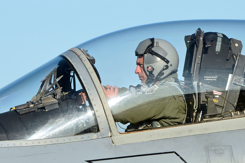 Lt. Col. Morris Fontenot at the helm of F-15C, 84-0013