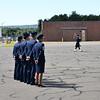 Commander James Keefe, Vice Commander Kenneth Lambrich,  OG Commander Alex Haldopolous, Chief Master Sgt. Maryanne Walts