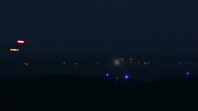 Four F-15s departing for night training (Clip0263)
