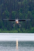 Cessna 206 landing at Chelatna Lake, which is approximately 100 miles north of Anchorage.