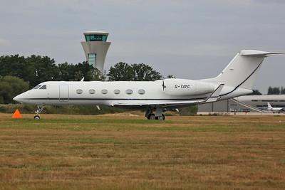 Gulfstream G450, G-TAYC, taking off - 22/07/18