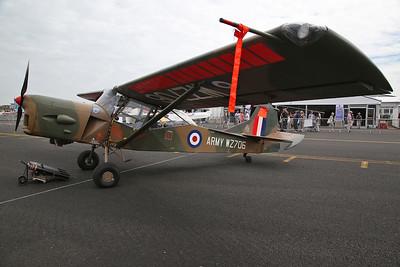 ex-RAF Taylorcraft Auster AOP.9, WZ706 / G-BURR, on static display - 22/07/18